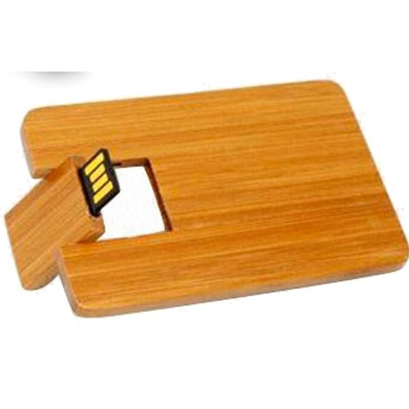 Pendrive tarjeta bamboo