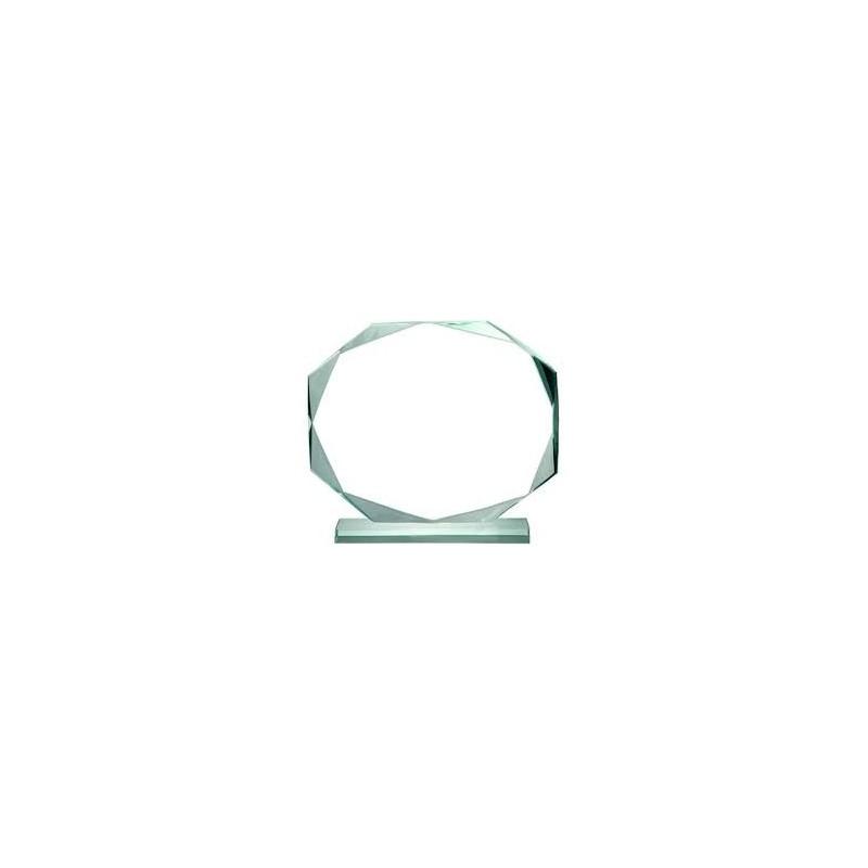Placa de vidrio octogonal en estuche