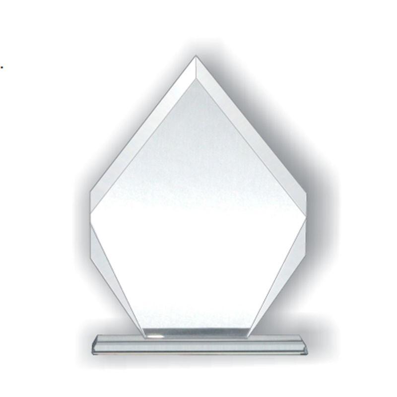 Placa de vidrio rombo en estuche