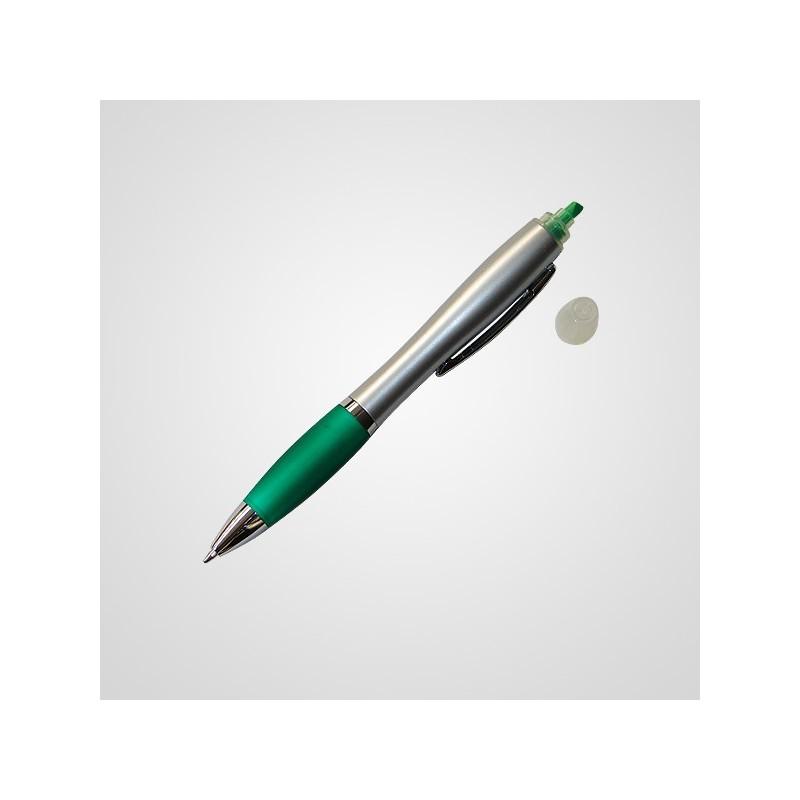 Boligrafo con resaltador cuerpo metal